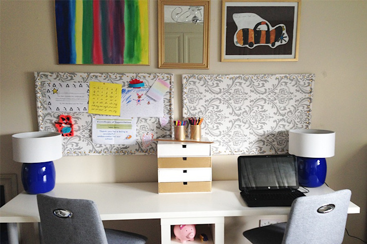 Family office and playroom Eclectic style offices & stores by Karolina Barnes Studio Eclectic