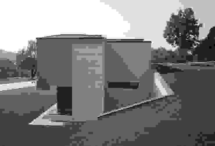 Fronte nord Case moderne di boschi + serboli architetti associati Moderno
