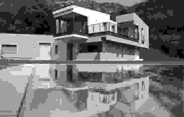 Fronte sud-est Case moderne di boschi + serboli architetti associati Moderno