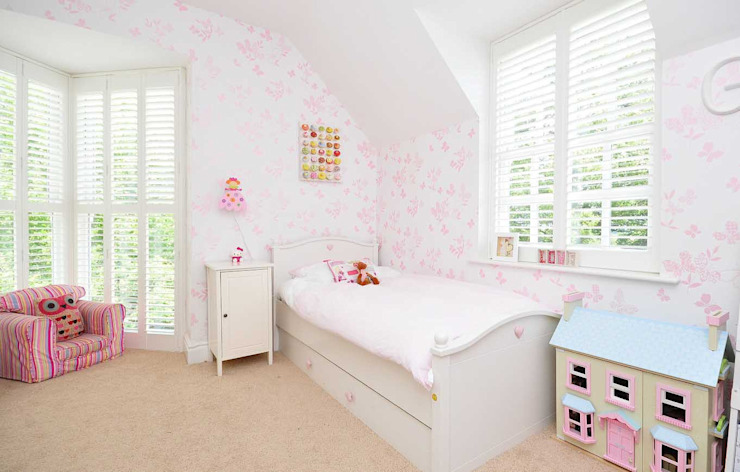 Little Girls Bedroom Modern nursery/kids room by Lime Lace Eclectic Interiors Modern