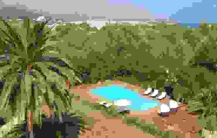 Views of the sea Mediterrane Pools von Lime Lace Eclectic Interiors Mediterran