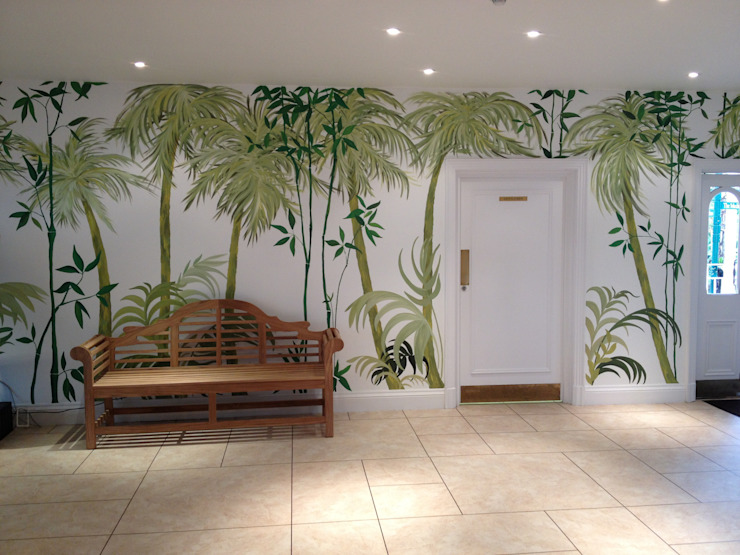 Birmingham Botanical Gardens - Feature Entrance Mural Tropical style corridor, hallway & stairs by Joanna Perry Murals Tropical