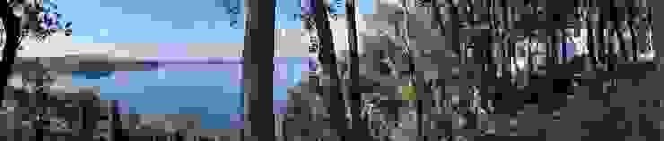 Casa sul lago di Bracciano Giardino in stile mediterraneo di laboratorio di architettura - gianfranco mangiarotti Mediterraneo