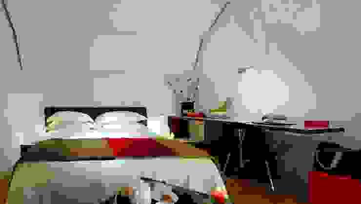 Black Hotel Hotel in stile minimalista di laboratorio di architettura - gianfranco mangiarotti Minimalista
