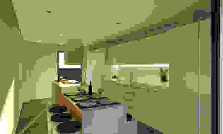 Vivienda SL Cocinas de estilo moderno de Binomio Estudio Moderno