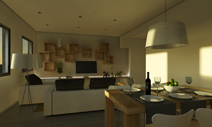 Modern dining room by Binomio Estudio Modern