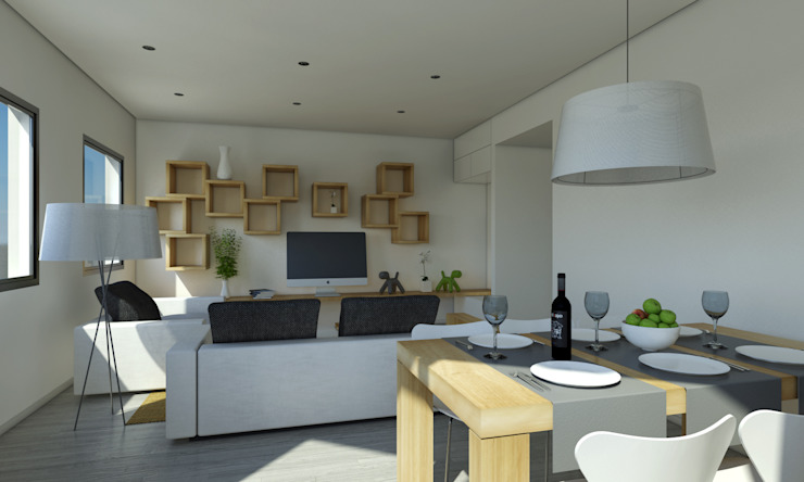 Modern living room by Binomio Estudio Modern
