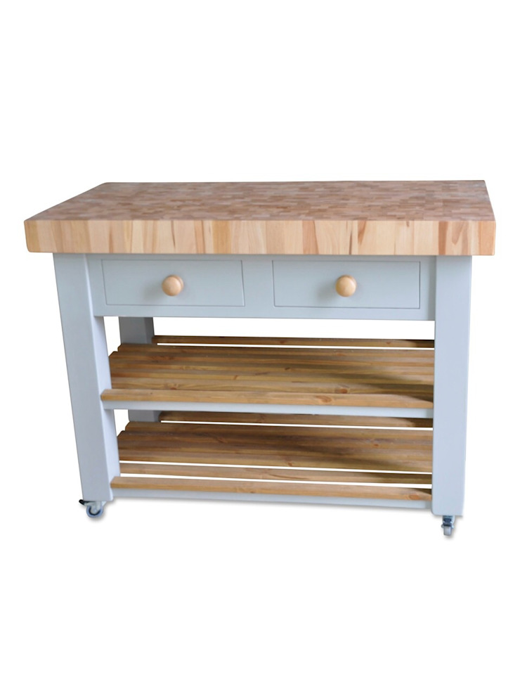 Butchers block island—end grain beech Country Interiors