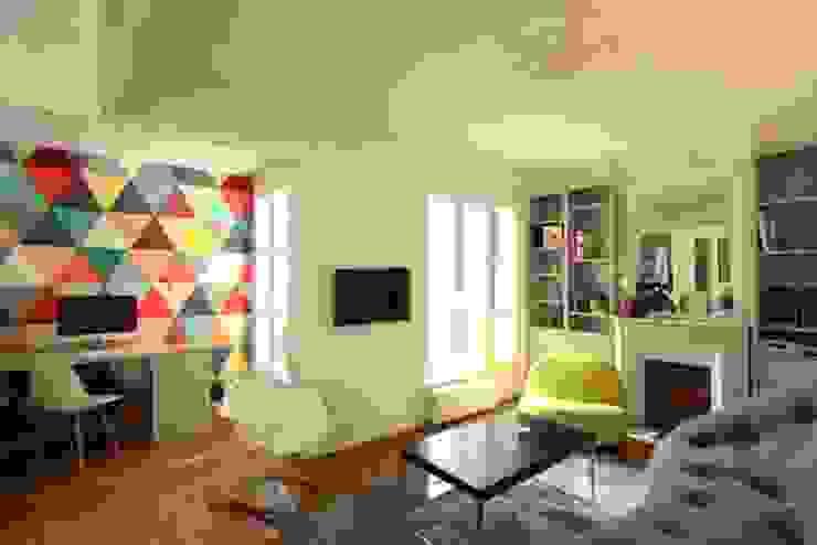 Mediterranean style media room by Camille Hermand Architectures Mediterranean