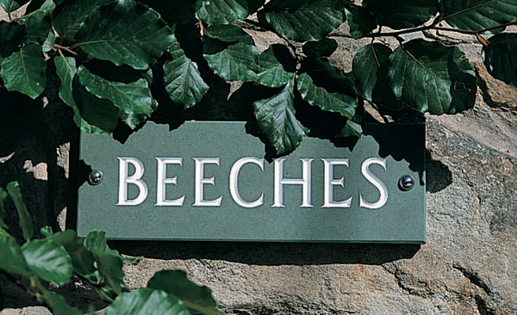 Slate House Signs: rustic  by The House Nameplate Company, Rustic