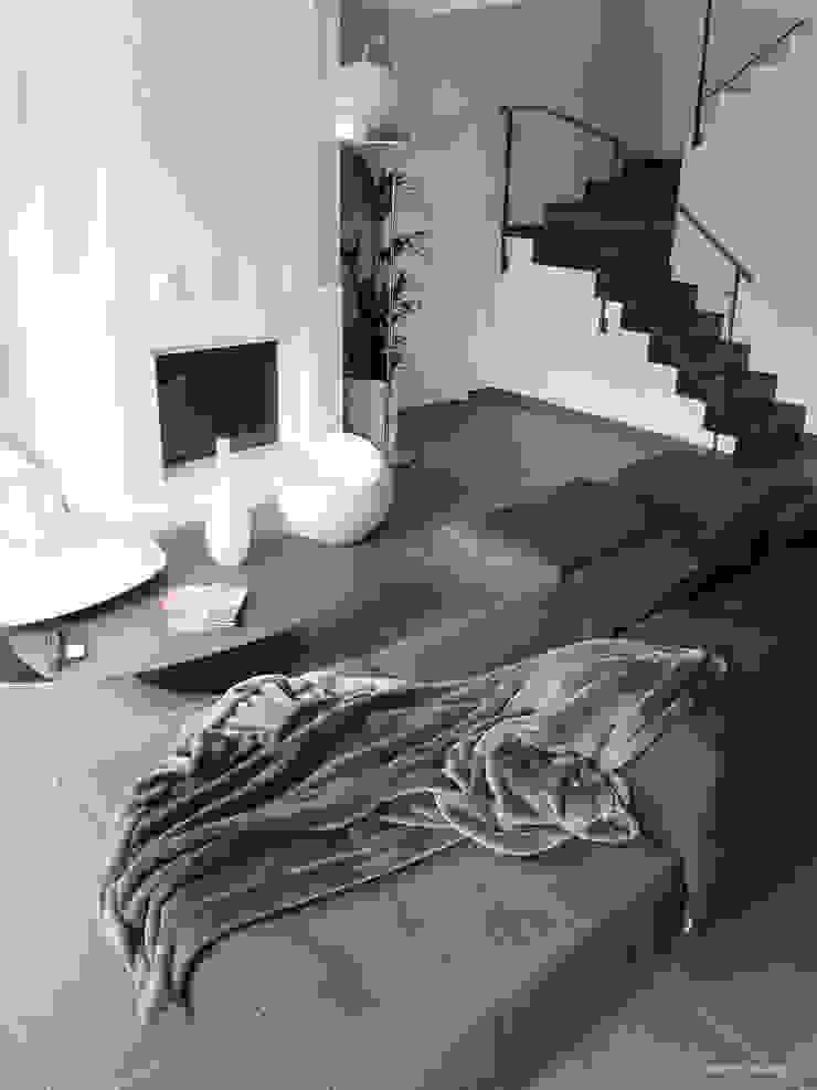 Rénovation villa 06 Salon moderne par INSIDE Création Moderne