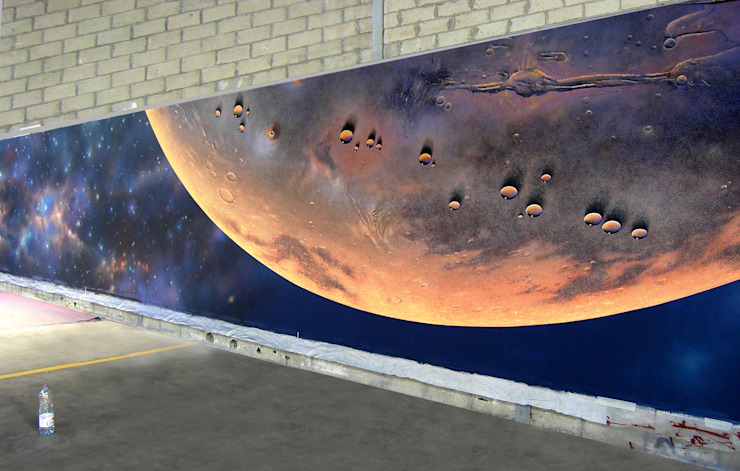 Space Art pour le Casino de Perros Guirec par Atelier Frederic Gracia Moderne
