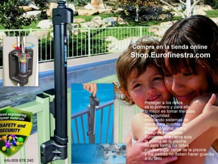 MagnaLatch la cerradura de Piscina de Euroterra Exterior.es