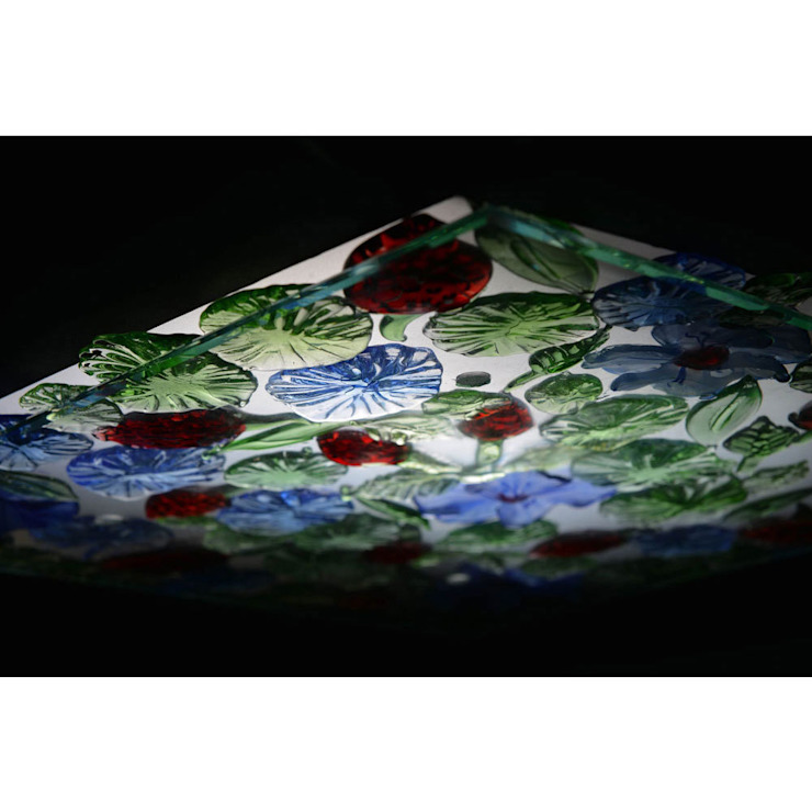 Fruit and Flowers light panel: eclectic  by A Flame with Desire, Eclectic