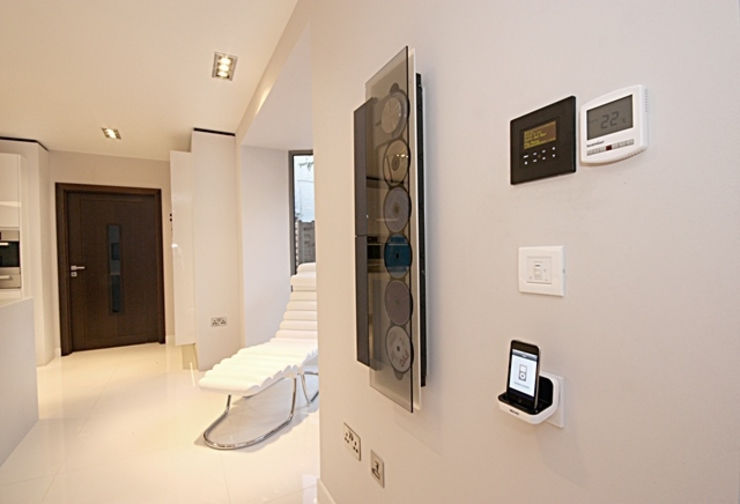 Automation System Control Modern corridor, hallway & stairs by Inspire Audio Visual Modern