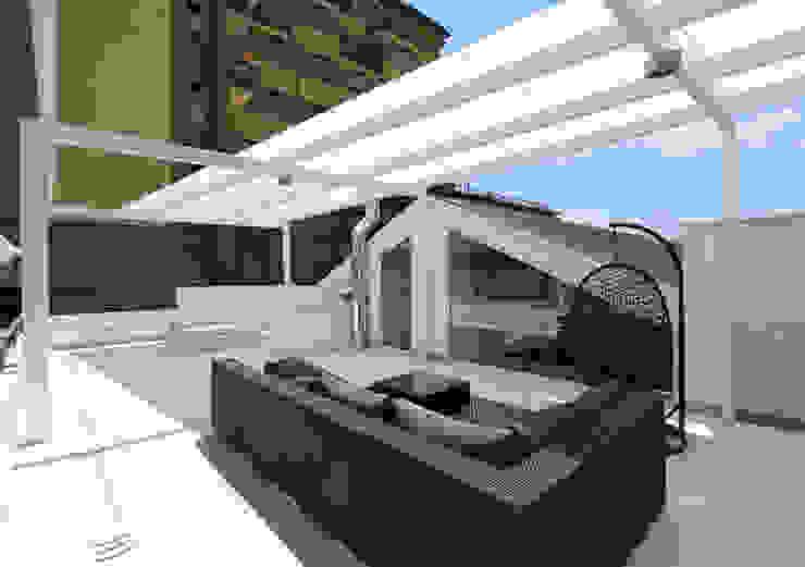 Gimmigi Lab Architettura Modern balcony, veranda & terrace