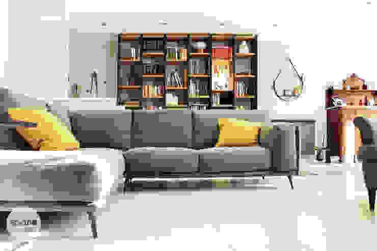 I ♥ GRAY :: Maresa's living room Moderne Wohnzimmer von Spazio 14 10 di Stella Passerini Modern