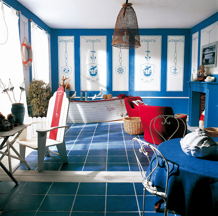 Casa al mare di INTERNO78.IT - DECORAZIONI D'INTERNI Mediterraneo