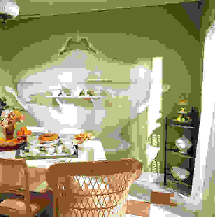 Trompe l'oeil cucina Cucina eclettica di INTERNO78.IT - DECORAZIONI D'INTERNI Eclettico
