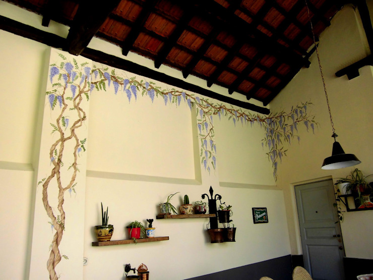 Portico Balcone, Veranda & Terrazza in stile rustico di INTERNO78.IT - DECORAZIONI D'INTERNI Rustico