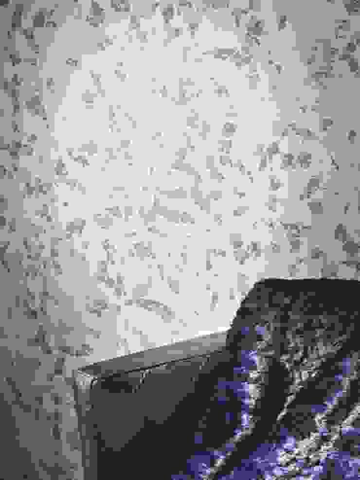 Papel vinílico nacarado en azules Casamance Espacios de SERRANOS Studio