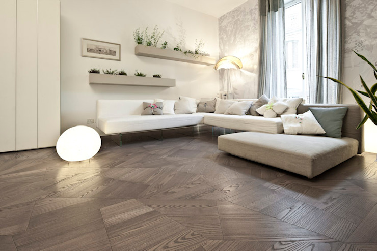 Slide Floor: modern  by tuttoparquet, Modern Wood Wood effect