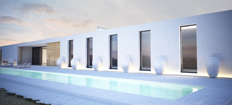 Proyecto de Vivienda Unifamiliar Casas de estilo moderno de DUE Architecture & Design Moderno
