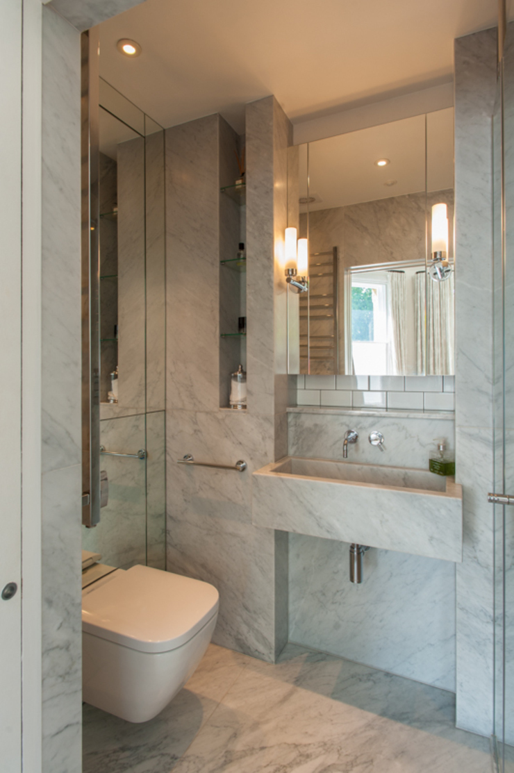 AG175_TwickenhamApartment Eclectic style bathroom by Morgan Harris Architects Ltd Eclectic