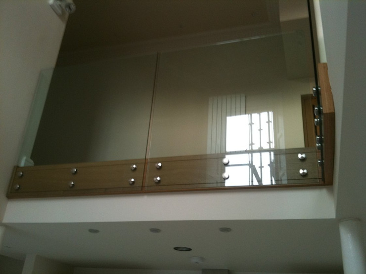 Oak & Glass Balustrade by Southside Glazing & Joinery