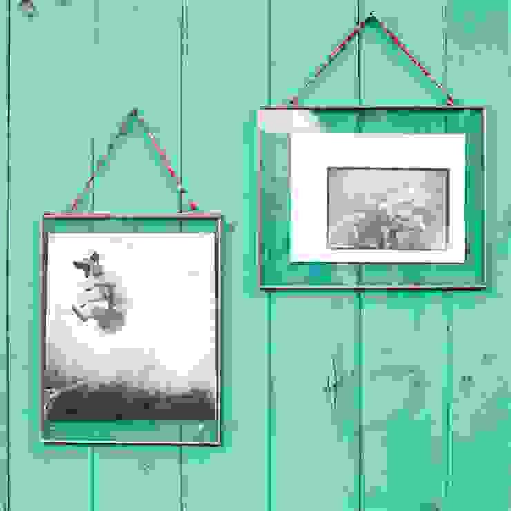 Large Hanging Glass Frames: rustic  by Loop the Loop, Rustic