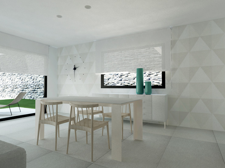 Una casa de luz blanca en Mallorca. de Byhome Moderno