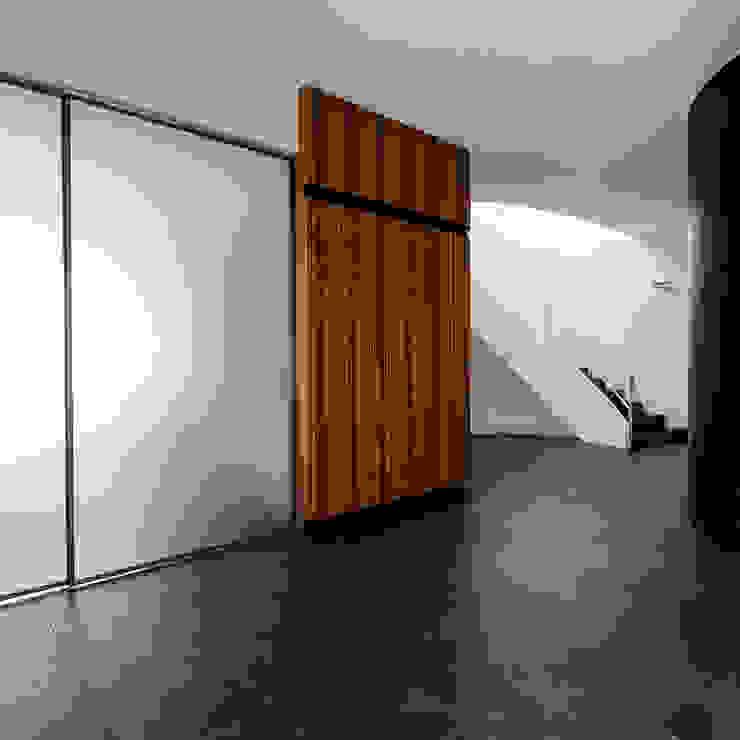 Entrance of the study Pasillos, vestíbulos y escaleras de estilo moderno de Studio 4e Moderno