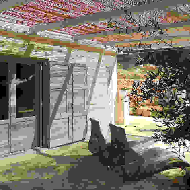 casa GM Balcone, Veranda & Terrazza in stile mediterraneo di 0-co2 architettura sostenibile Mediterraneo