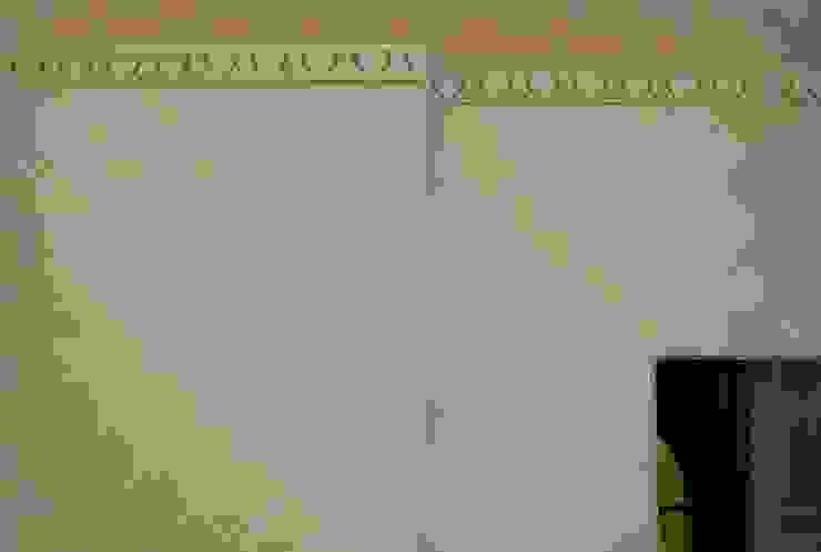 Decorazione murale finto raso Sala da pranzo di RIECOLOGIZZO
