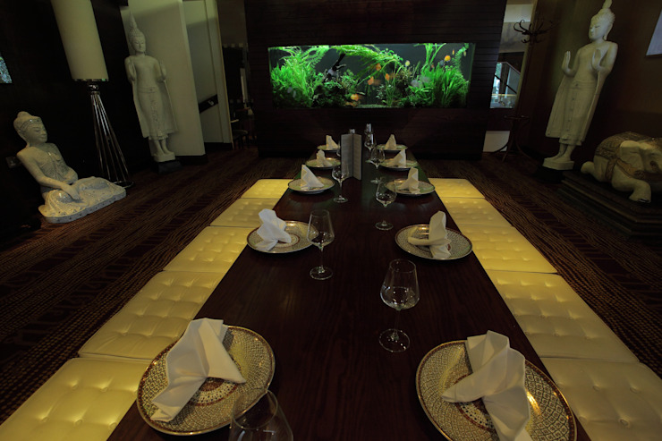 Exotic Thai Restaurant Aquarium Architecture ร้านอาหาร