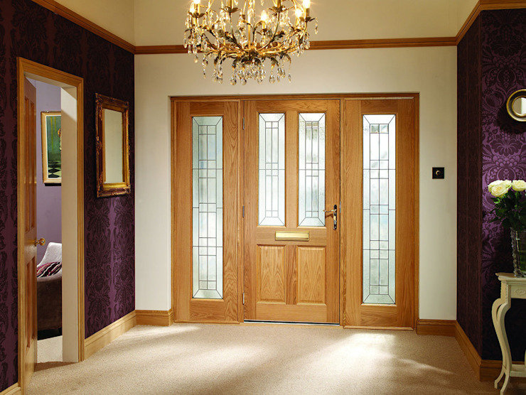 Malton Diamond Double Side Panel Door Set Modern Doors Ltd Вікна & Дверi Двері