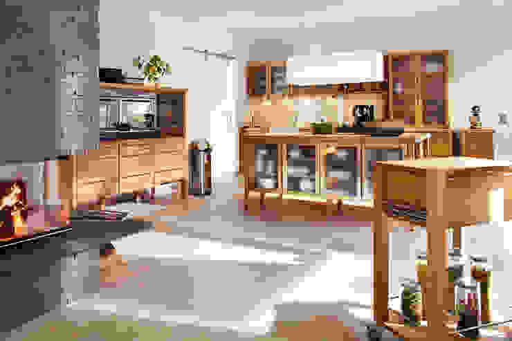 Massivholz Modulküche pure nature:  Küche von annex Gmbh & Co. KG,Landhaus