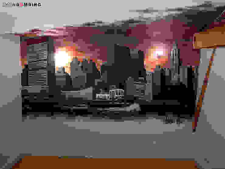 Vue de New York Chambre moderne par Lyonbombing Moderne