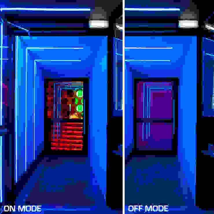 Sala Siroco en Madrid Espacios comerciales de estilo moderno de Vidrios de privacidad Moderno