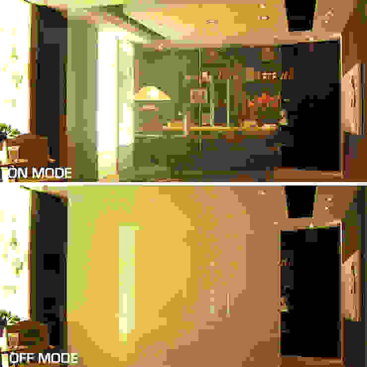 Vidrios de privacidad Eclectic style houses