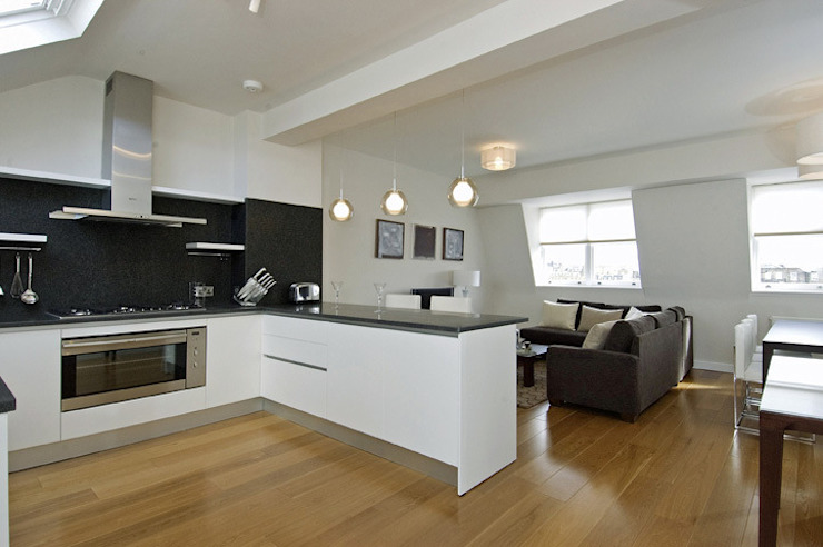 PROJECT: A 2-bed apartment in Bayswater. Modern kitchen by Anna Hansson Design Modern