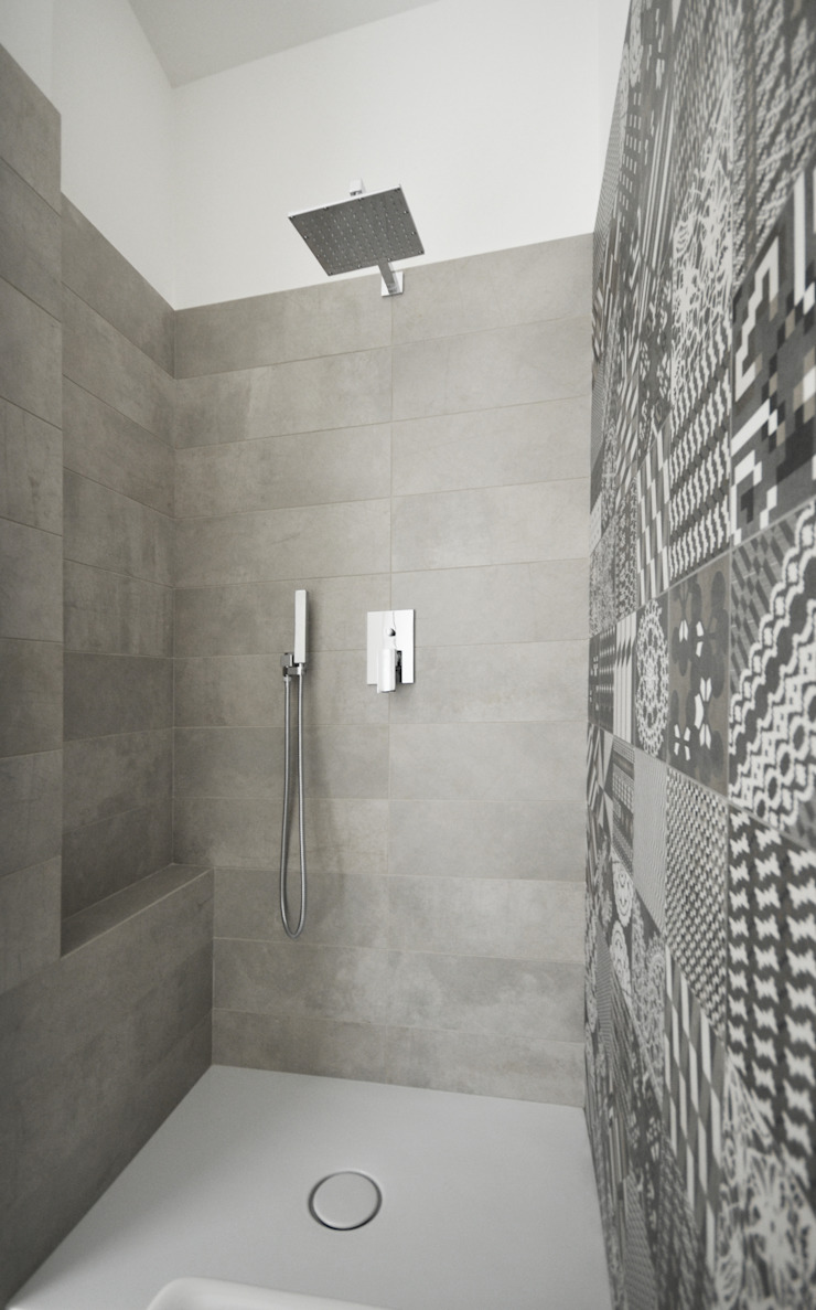 house studio: living workshop francesco valentini architetto Modern bathroom