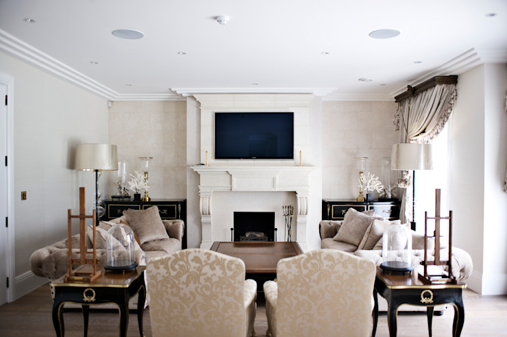 Lakeview cinema Modern style media rooms by London Residential AV Solutions Ltd Modern