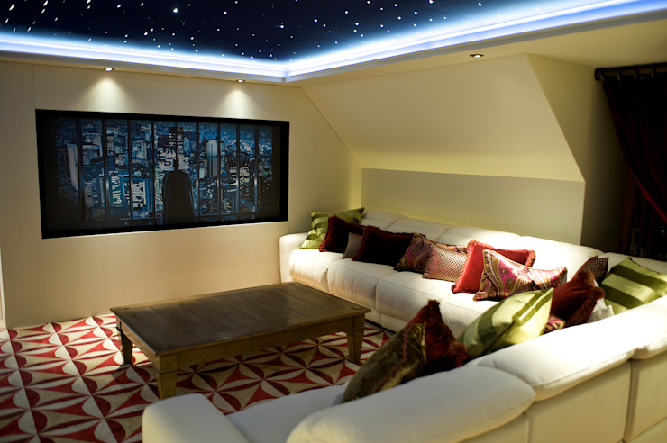 Lakeview cinema Salas de entretenimiento de estilo moderno de London Residential AV Solutions Ltd Moderno