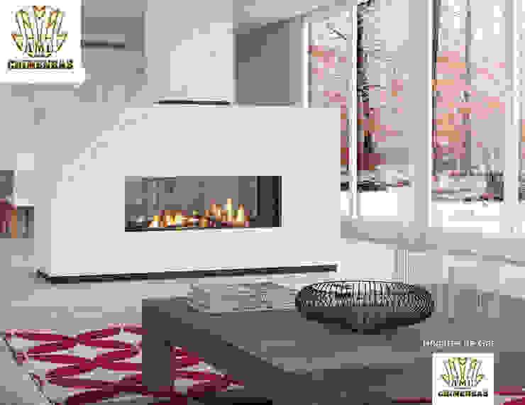 Modern Living Room by CHIMENEASAML Modern