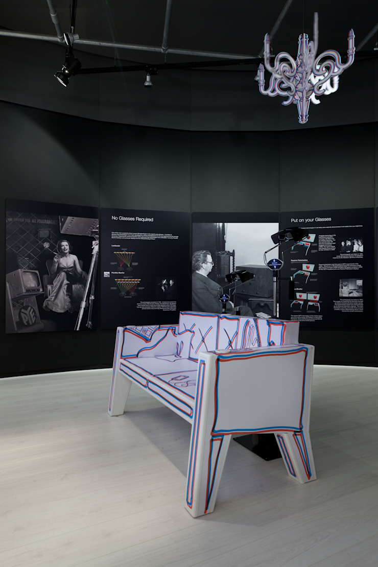 3DTV Exhibition Modern museums by NRN Design Modern