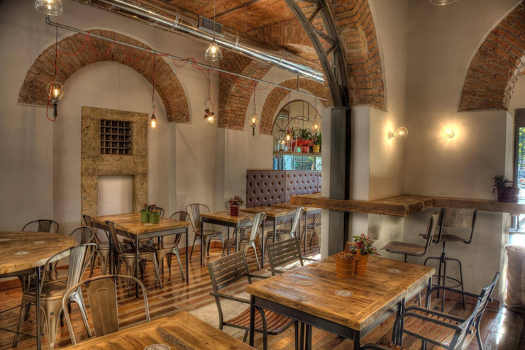 Industrial style gastronomy by 3 Punti Architettura Industrial