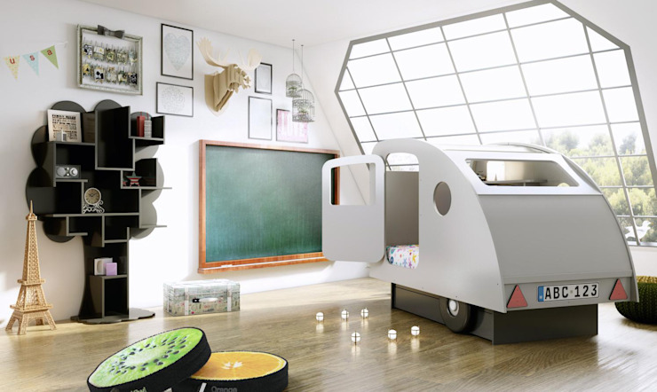 KIDS BEDROOM CARAVAN BED in White von Cuckooland Modern