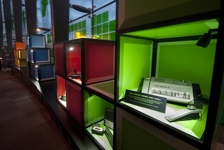 Games Lounge Exhibition Eclectic style museums by NRN Design Eclectic