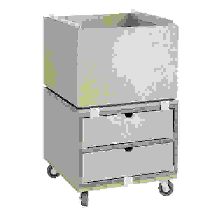 Rollcontainer aus MDF: modern  von stocubo - Das modulare Regalsystem,Modern
